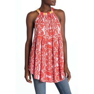 Free People Mimi Sleeveless Halter Tunic Sz S